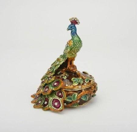 Peacock Trinket Box  $34.95