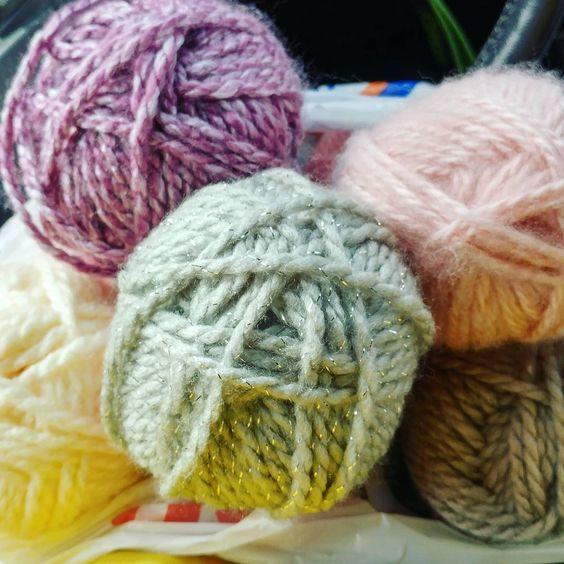 Bought for different projects but the colors look so pretty together too 🐑 #yarnaddict #knittersofinstagram #rebeccajoknits: