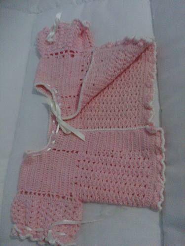 Hermoso tejido para la beba