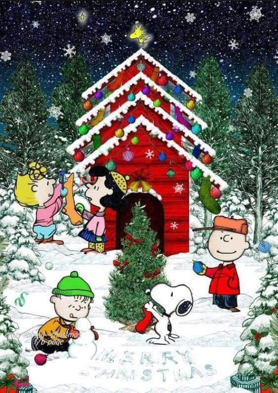 Charlie Brown Snoopy The Peanuts Gang Christmas Artist Snoopy Christmas Christmas Art