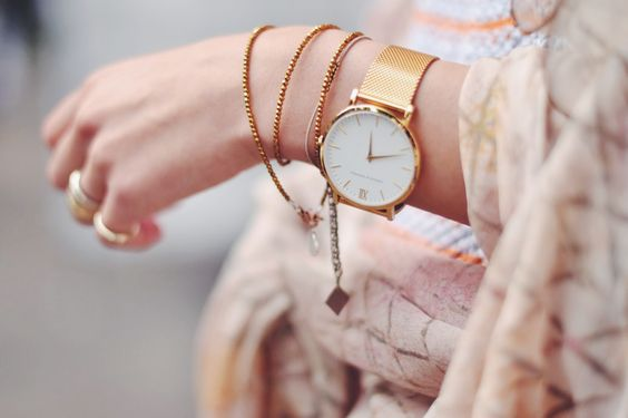 Statement gold watch.