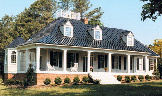 A Beautiful Standing Seam Metal Roof On A Classic Cape Cod Home Metal Roof Houses Tin Roof House Metal Building Homes