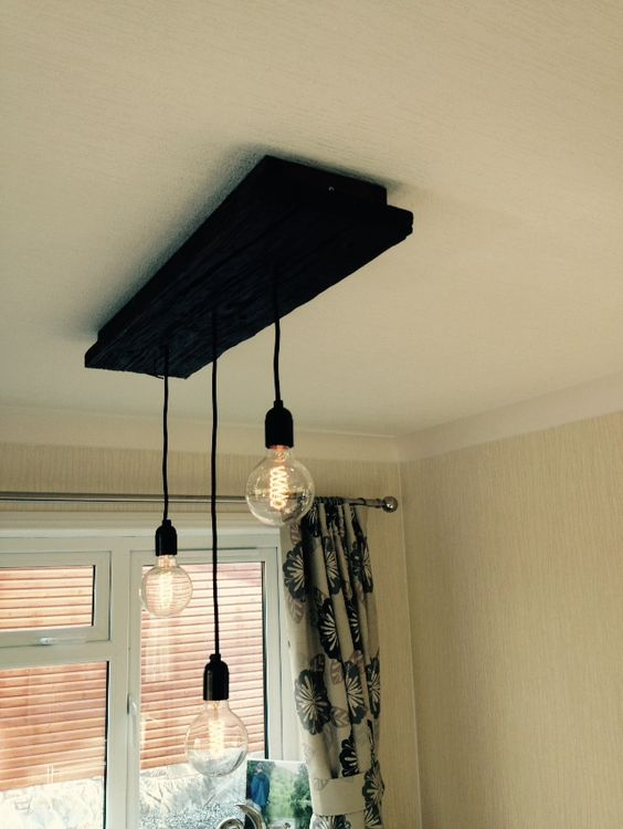 Driftwood dining room light