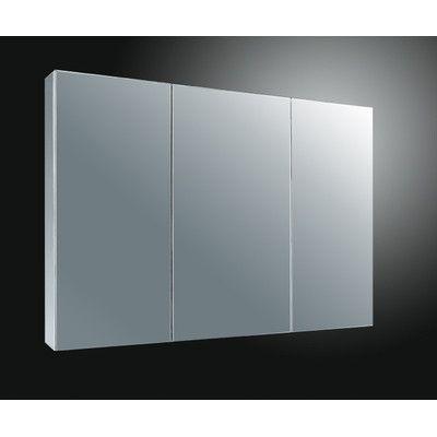 "Ketcham Medicine Cabinets 37"" x 22"" Surface Mount Medicine Cabinet & Reviews…"