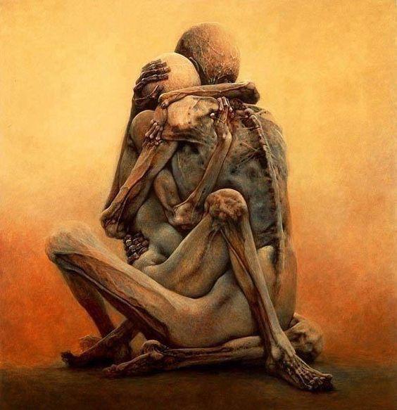 Es esto lo que somos bajo todas esas pretensiones??   Lo único que queda es abrazarse en medio de la balacera q es la vida. (fito paez)