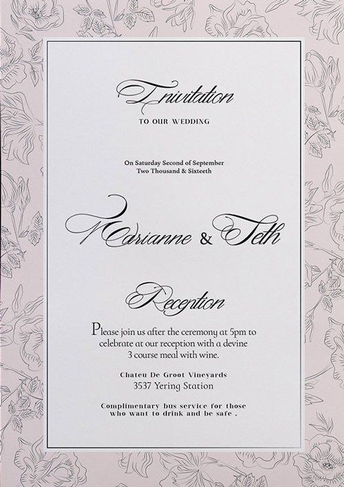 30 Wedding Invitation Templates Photoshop In 2020 With Images Free Wedding Invitation Templates Wedding Invitation Templates Wedding Invitations Printable Templates