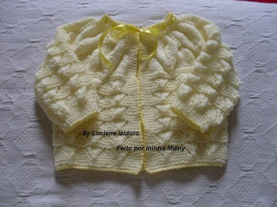 É com muita alegria que venho dividir este casaquinho em tricô ...