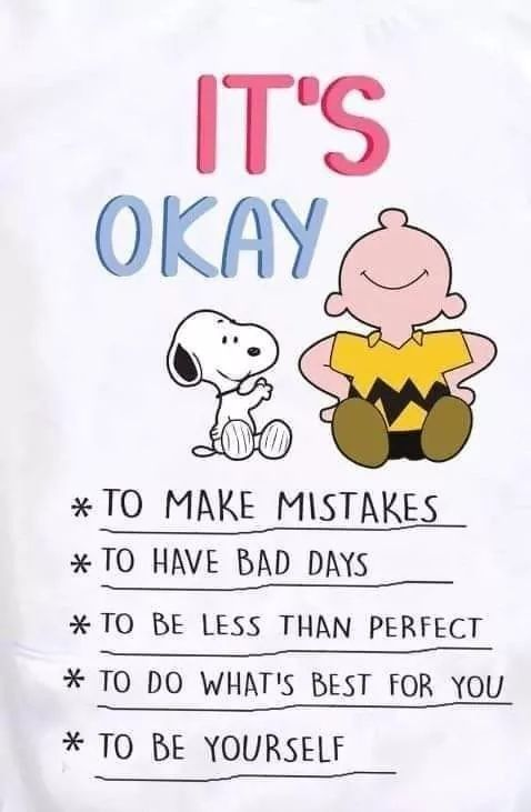 It S Okay To Be Me In 2020 Funny Inspirational Quotes Snoopy Quotes Hug Quotes