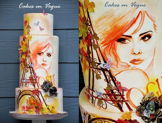 Fall In Paris | http://www.cake-decorating-corner.com/
