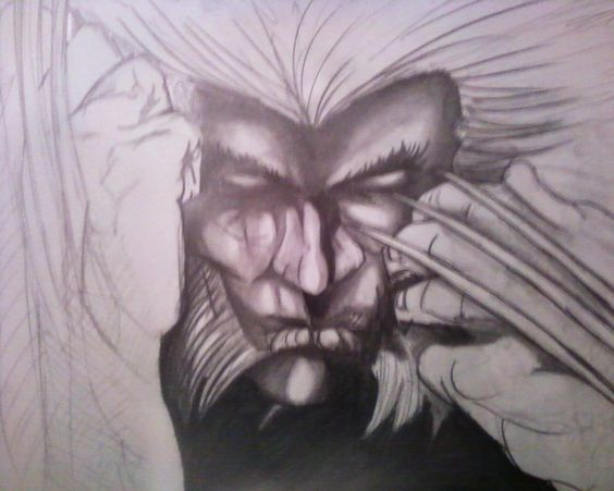 Unfinished Weapon X drawing