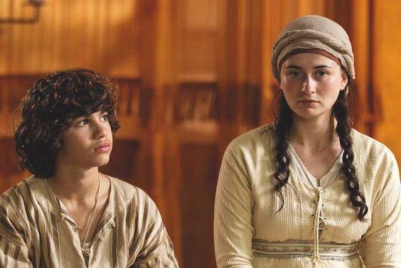 Eli Machover as Jonathan and Natasha Barrero as Miriam in The Roman Mysteries. https://itunes.apple.com/gb/tv-season/roman-mysteries-series-1/id404814654?ign-mpt=uo%3D4
