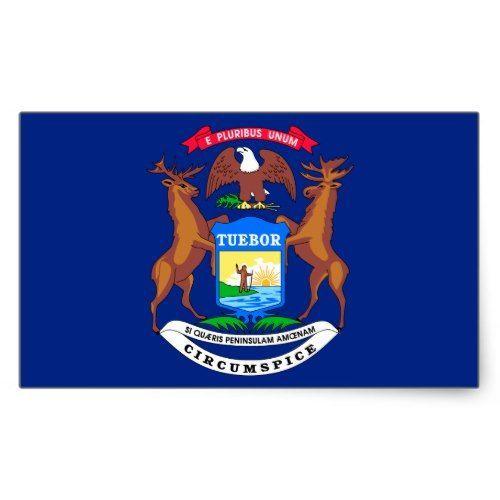 Michigan Flag U S States In 2020 Michigan State Flag Social Studies Unit Michigan Flag