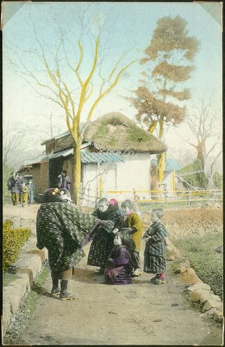 Children in a village, Japan. | by National Museum of Denmark