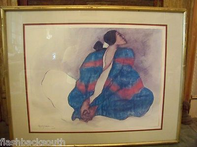 RC Gorman signed 1977 Native American print on eBay @ seller Flashbacksouth