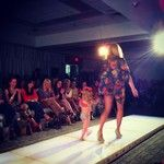 The tiniest member of Maude + @Meredith Massey on the runway at @NWA Fashion Week.