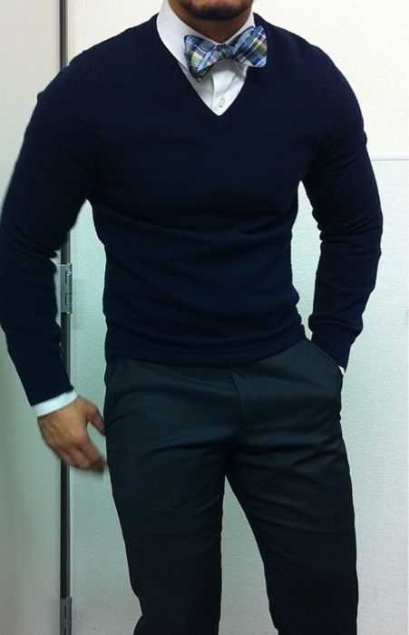 Black V Neck Sweater With Tie 92