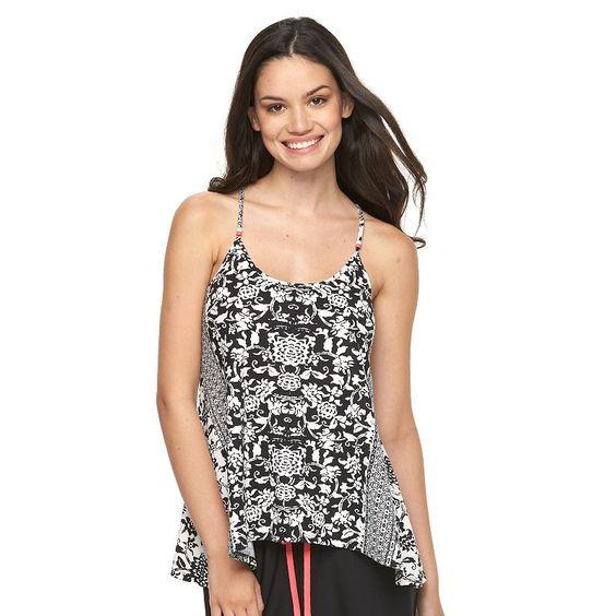 Women's Apt. 9® Pajamas: Monique Border Printed Sleep Tank, Size: