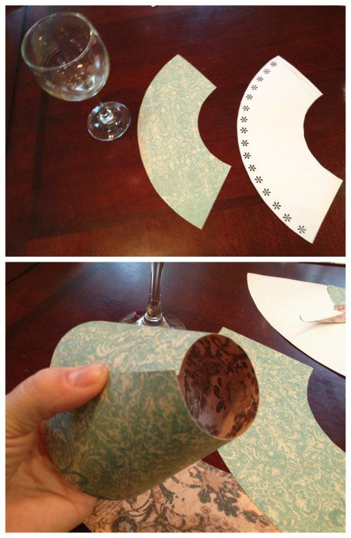 Wine Glass Lamp Shade DIY Project (Free template included ...