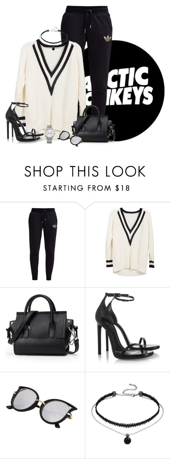 """""""ARCTIC MONKEYS"""" by marianamenes19 ❤ liked on Polyvore featuring adidas Originals, Yves Saint Laurent and Calvin Klein"""