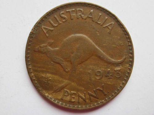 1943 y australia copper penny die cracks vf ebay australia new zealand oceania palau niue - Incredible uses for copper pennies ...