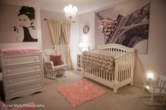 Vintage Pink and Gold Paris-Themed Nursery - Project Nursery: