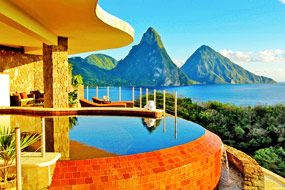 Anse Chastanet Resort offers the best in St Lucia  -   If I ever got to stay somewhere like this, I'm quite sure I'd never get over the beauty.