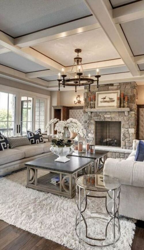 50 Tray Ceiling Image Ideas Design Inspiration Colorful Living Room Design Rustic Living Room Design House Beautiful Living Rooms
