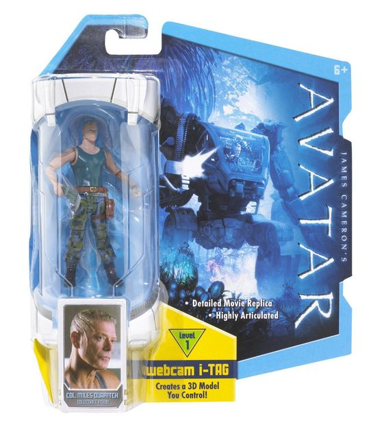Col. Miles Quaritch Avatar action figure NIB Level 1 Webcam i-Tag NIP Mattel