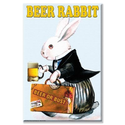 Buyenlarge Beer Rabbit Vintage Advertisement on Wrapped Canvas Size: