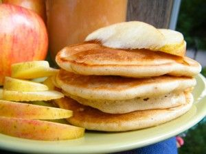 Gluten Free Dairy Free Spiced Apple Pancakes