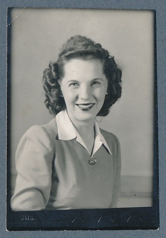 Vintage Arcade Photobooth Photo Smiling Girl