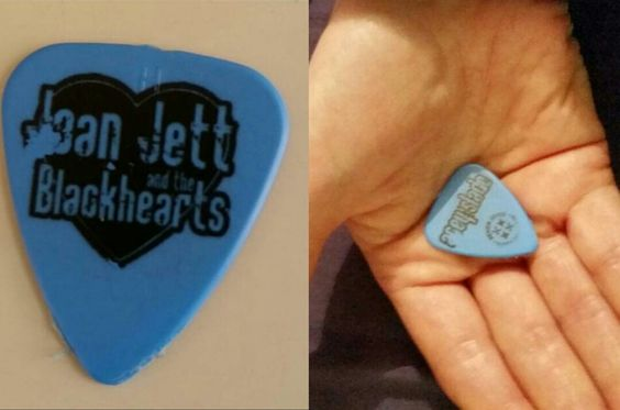 My guitar pic given to me by Acey Slade in Edinburgh