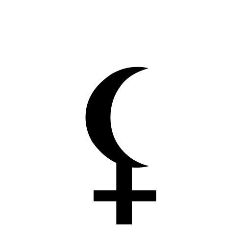 Hades Symbol Moon Cross Clipart Library