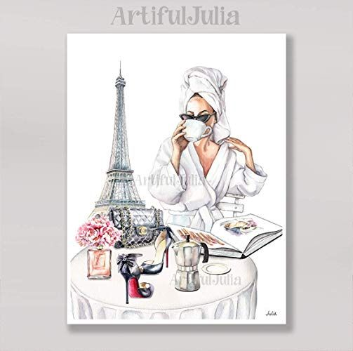 Amazon Com Eiffel Tower Poster Fashion Wall Art Print Of Watercolor Painting No Frame 5 X 7 8 X 10 9 X Fashion Art Prints Fashion Wall Art Art Prints