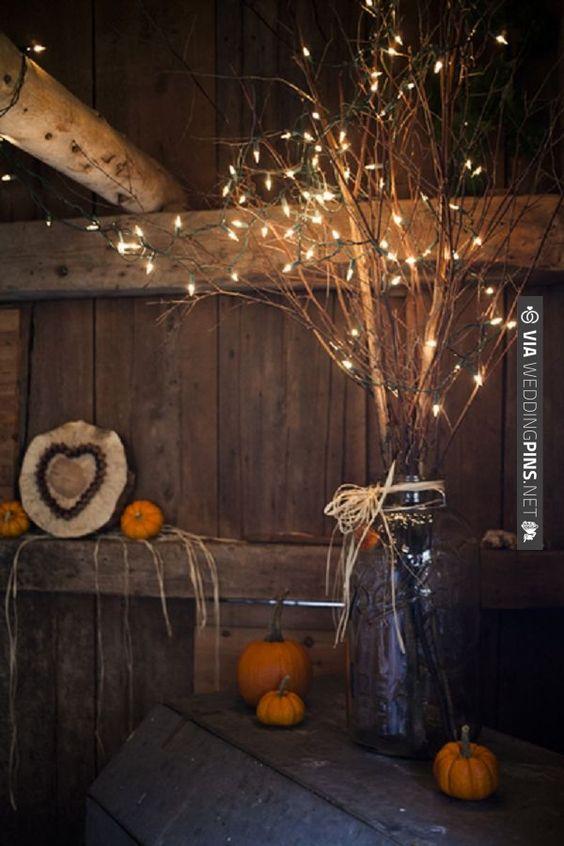 Fall decoration ideas via weddingpins wedding