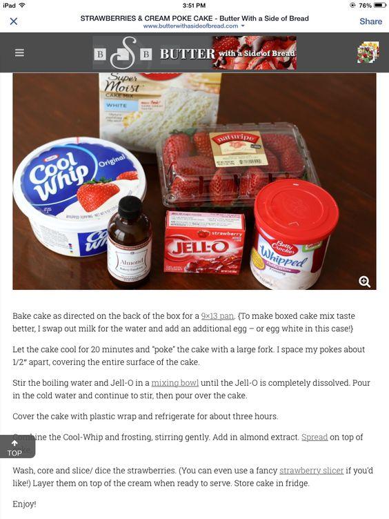 Strawberries & Cream Poke Cake page 2