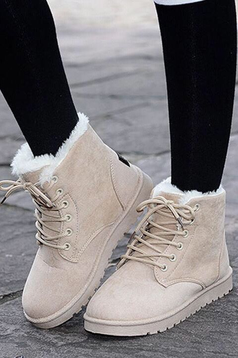 Ankle Boots For Women Casual Winter Snow Boot in 2020 Varm  Warm
