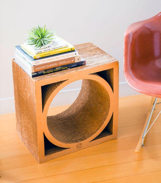 Cardboard Furniture Diy Cardboard And Side Tables On