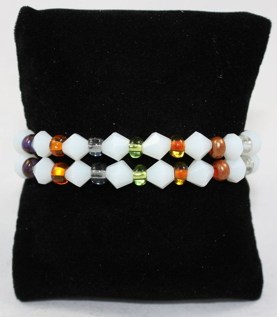 Multi Colored 2 Strand Bracelet