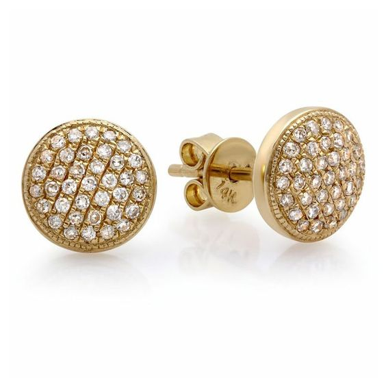 Large Domed Pave Stud Earrings – Shylee Rose Jewelry