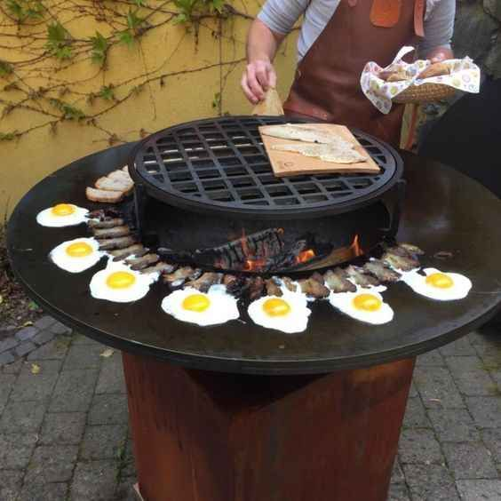 Wholesale Outdoor Camping Rust Steel Firepit Table From M Alibaba Com Outdoor Kitchen Fire Pit Bbq Table