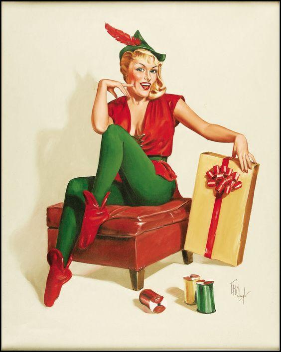 Forest H. Clough Christmas Elf | The Art of F. H. Clough ...