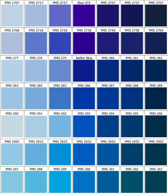 pantone blues colour charts pinterest vinyl farben. Black Bedroom Furniture Sets. Home Design Ideas