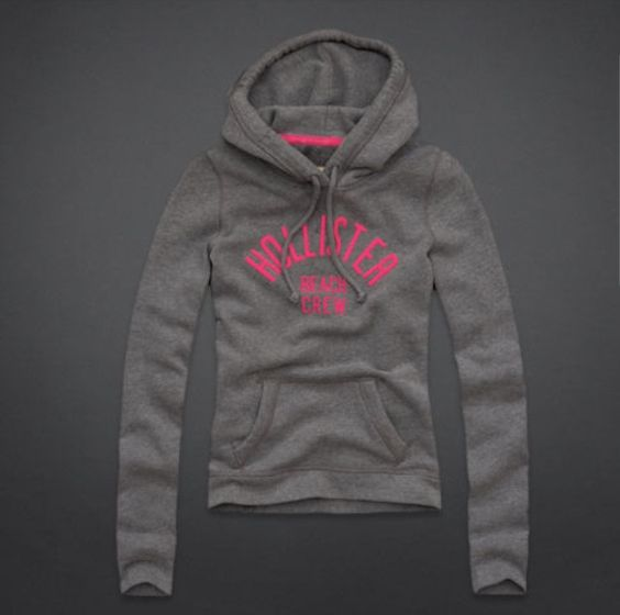 Grey and pink H... Hollister Sweaters For Girls Grey