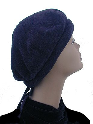 Chenille Cap with Ties