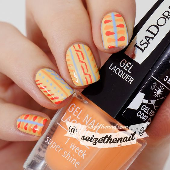 Retro spring nails with IsaDora City Light