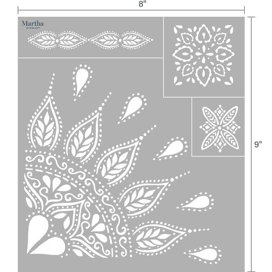 Martha Stewart Adhesive Silkscreen Mandala Martha Stewart