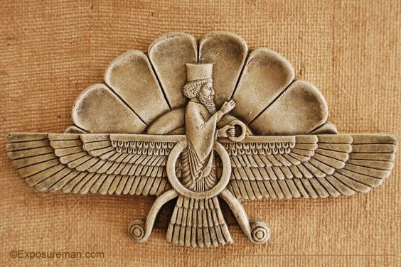 """Religion: This is the """"Far va Har"""" Symbol. It is also known to be the Zoroastrian symbol"""