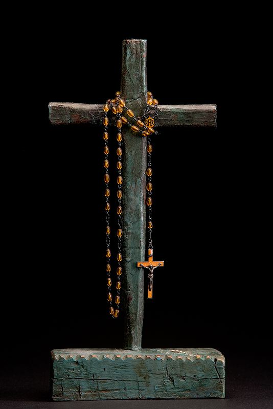 Keeping You and Your Family in my Prayers as You Are Loved Immensley By So Many -Rosary on a cross