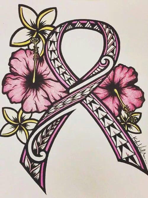 Pink ribbon drawing